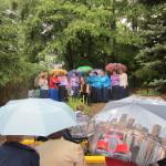 Даже летний дождик с грозой не испугал собравшихся